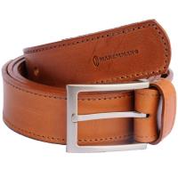 Ремень MAREMMANO 13100 Leather Belt For Trouser 3,5 см цв. Коричневый