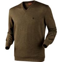 Пуловер HARKILA Glenmore pullover цвет Demitasse brown