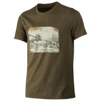 Футболка HARKILA Odin Moose & Dog T-shirt цвет Willow green