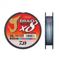 Плетенка DAIWA J-Braid Grand X8 135 м цв. разноцветный 0,06 мм