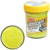 Паста BERKLEY PowerBait Natural Scent Glitter TroutBait аттр. Пелец цв. Солнечный желтый