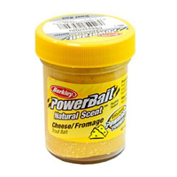Паста BERKLEY Powerbait Natural Scent Glitter Troutbait 50 г аттр. чеснок цв. жёлтый