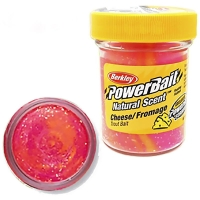 Паста BERKLEY PowerBait Natural Scent Glitter TroutBait аттр. Сыр цв. Щербет