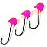 Джиг-Головка ТУЛА цв. розовый (3 шт.) 1,2 гр на крючке MARUTO