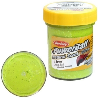 Паста BERKLEY PowerBait Natural Scent Glitter TroutBait аттр. Печень цв. Шартрез