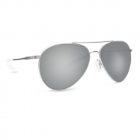 Очки COSTA DEL MAR Piper 580 GLS р. M цв. Velvet Silver Frame цв. ст. Gray Silver Mirror