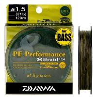 Леска DAIWA PE Perfomance 8 Braid + SI #1,5 9,5kg 120m