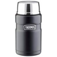 Термос THERMOS SK 3020 BK Matt Black для еды с ложкой (тепло 10 ч, холод 12 ч) 0,71 л цв. Чёрный