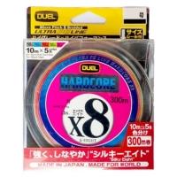 Плетенка DUEL PE Hardcore X8 300 м 5Color #2,5 (0,270 мм) 20,0 кг