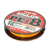 Плетенка SUNLINE Siglon PEx8 150 м цв. оранжевый 0,094 мм