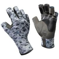 Перчатки рыболовные BUFF Pro Series Angler Gloves цвет Fish Camo