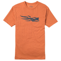 Футболка SITKA Logo Tee Ss цвет Burnt Orange