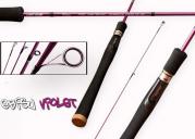Удилище спиннинговое CRAZY FISH Ebisu Violet S712L Light game тест 3 - 7 г