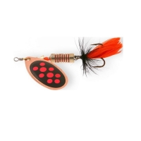Блесна вращающаяся NORSTREAM Aero Fly № 1 3,5 г цв. black killer copper red dots