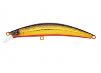 Воблер DAIWA DR MINNOW 7F black gold fire