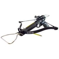 Арбалет-пистолет MAN KUNG силой 80 lbs, приклад и ствол алюминий, без упора, 3 стрелы, цв черный