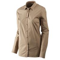 Рубашка женская HARKILA Selja Lady LS check shirt цвет Moonlight rose check