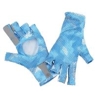 Перчатки SIMMS Solarflex Sunglove цвет Hex Camo Sky Blue