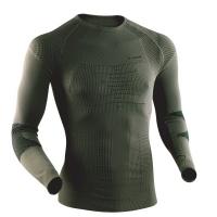 Термофутболка X-BIONIC Combat Man Uw Shirt Long Sl цвет Серо-зеленый / Антрацит