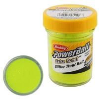 Паста BERKLEY PowerBait Extra Scent Glitter TroutBait цв. Шартрез