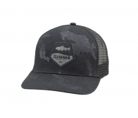 Кепка SIMMS Trout Patch Trucker цв. Hex Camo Carbon