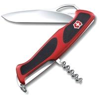 Нож VICTORINOX RangerGrip 63 р. 130 мм, 5 функций, с фиксатором лезвия, цв. красный с чёрным