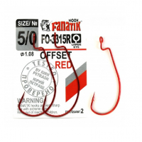 Крючок офсетный FANATIK FO-3315R № 6 (6 шт.)
