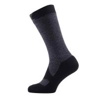 Носки SEALSKINZ Walking Thin Mid Sock цвет Dark Grey Marl / Black