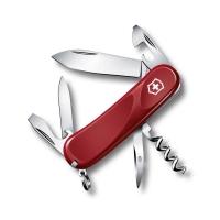 Нож VICTORINOX Evolution 10  р. 85 мм 14 функций цв. красный, карт.коробка