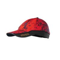 Бейсболка HARKILA Lynx Safety Light Cap цв. AXIS MSP Red Blaze / Shadow brown