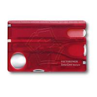Швейцарская карточка VICTORINOX для ножа 82х54,5х4,5 мм SwissCard Nailcare красный полупрозначный коробка подарочная