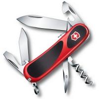 Нож VICTORINOX EvoGrip S101  р. 85 мм 12 функций цв. красный / черный, карт.коробка