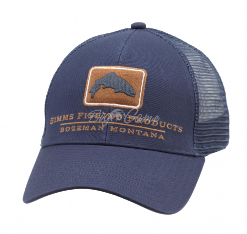 Кепка SIMMS Trout Icon Trucker цв. Ink Blue фото 1