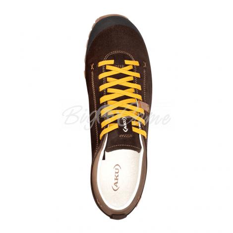 Ботинки треккинговые AKU Bellamont III Suede GTX цвет Dark Brown / Yellow 504.3-305-10 фото 2