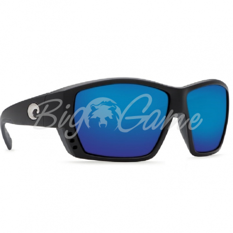 Очки COSTA DEL MAR Tuna Alley 580 GLS W р. L цв. Matte Black Global Fit цв. ст. Blue Mirror фото 1