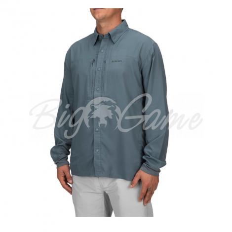 Рубашка SIMMS Bugstopper Intruder BiComp LS Shirt '21 цвет Storm фото 5