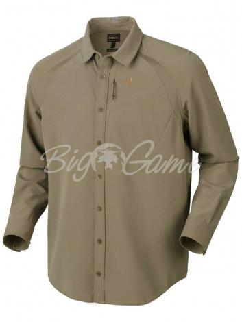 Рубашка HARKILA Herlet Tech LS Shirt цвет Light Khaki фото 1