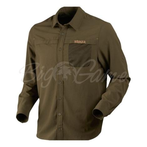 Рубашка HARKILA Herlet Tech LS Shirt цвет Willow green фото 1