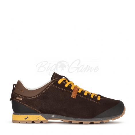 Ботинки треккинговые AKU Bellamont III Suede GTX цвет Dark Brown / Yellow 504.3-305-10 фото 5