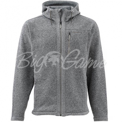 Куртка SIMMS Rivershed Full Zip Hoody цвет smoke фото 1