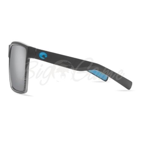 Очки COSTA DEL MAR Rincon 580 GLS р. XL цв. Matte Smoke Crystal цв. ст. Gray Silver Mirror фото 3