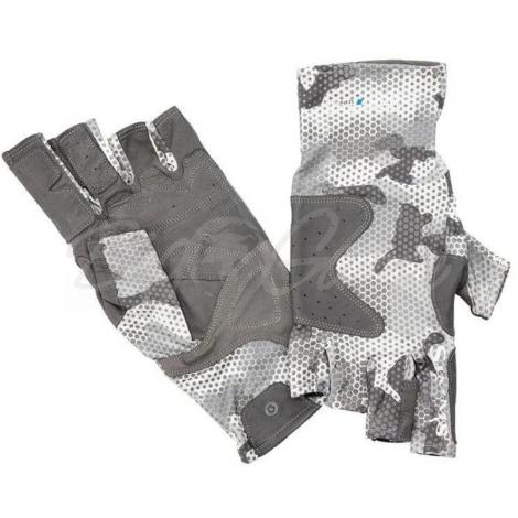 Перчатки SIMMS Solarflex Guide Glove цвет Hex Flo Camo Steel фото 2
