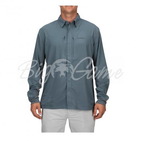Рубашка SIMMS Bugstopper Intruder BiComp LS Shirt '21 цвет Storm фото 4