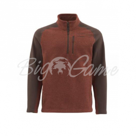 Пуловер SIMMS Rivershed Sweater Quarter Zip цвет Rusty Red 11900-614-40 фото 1