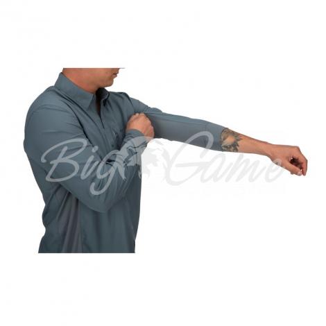 Рубашка SIMMS Bugstopper Intruder BiComp LS Shirt '21 цвет Storm фото 2