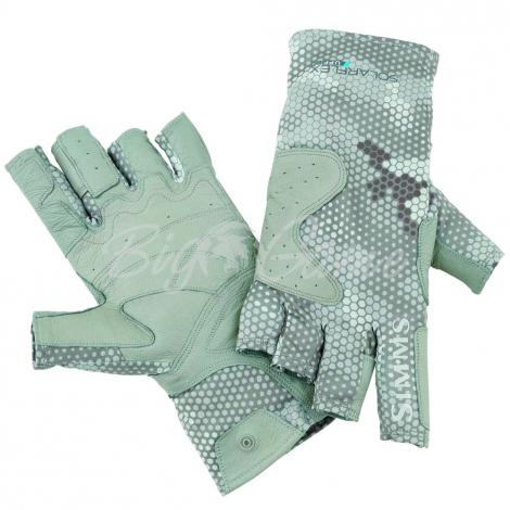 Перчатки SIMMS Solarflex Guide Glove цвет Hex Camo Boulder фото 1