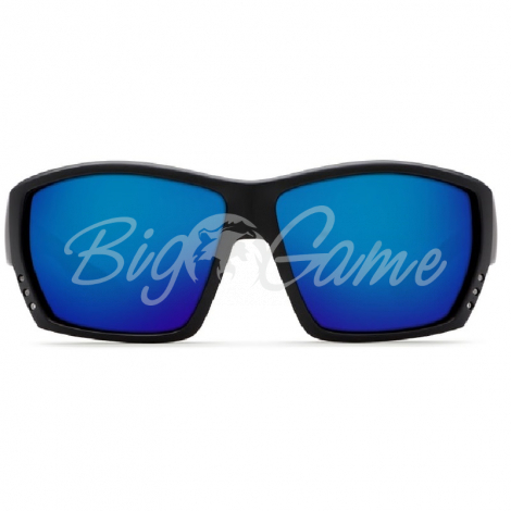 Очки COSTA DEL MAR Tuna Alley 580 GLS W р. L цв. Matte Black Global Fit цв. ст. Blue Mirror фото 2