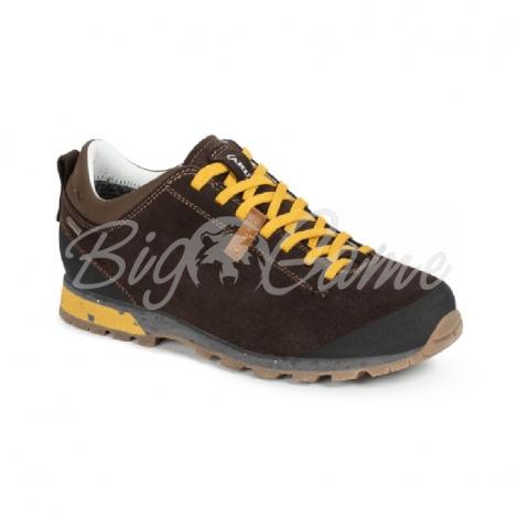 Ботинки треккинговые AKU Bellamont III Suede GTX цвет Dark Brown / Yellow 504.3-305-10 фото 1