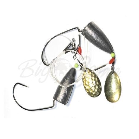Оснастка ZETTECH Вездеход,пуля 40 г 25 см, лепесток-латунь (2 шт.) фото 1