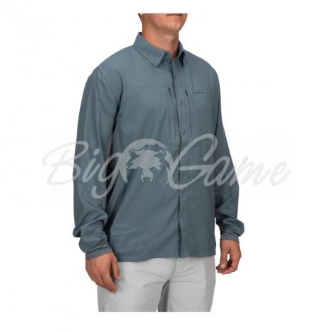 Рубашка SIMMS Bugstopper Intruder BiComp LS Shirt '21 цвет Storm фото 7